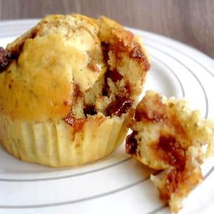 muffins aux flocons d'avoine et pépites de chocolat