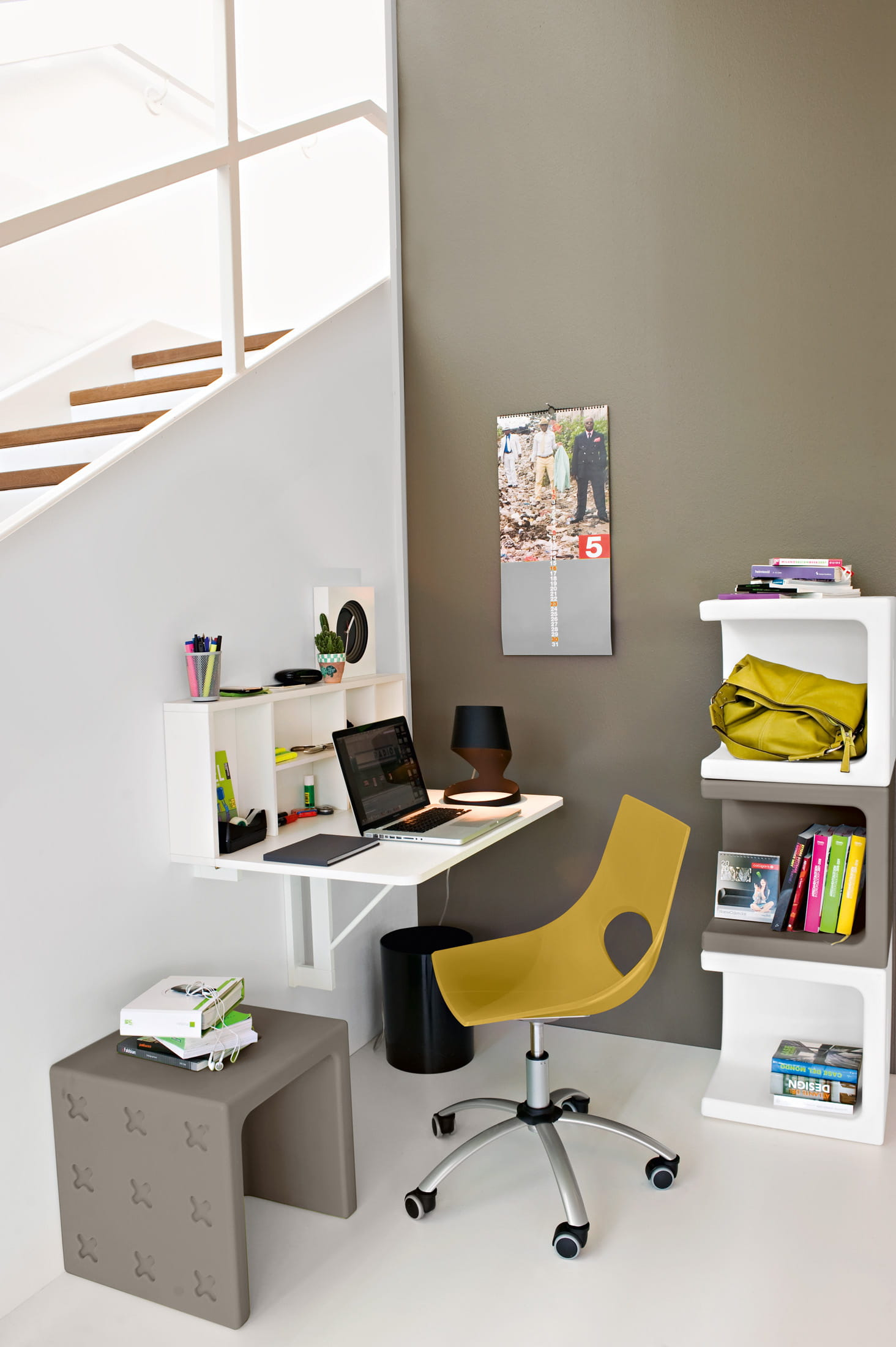 Le bureau mural spacebox de calligaris for Bureau mural
