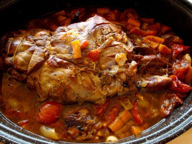 Recette de gigot de 7 heures la recette facile - Cuisiner le sanglier au four ...