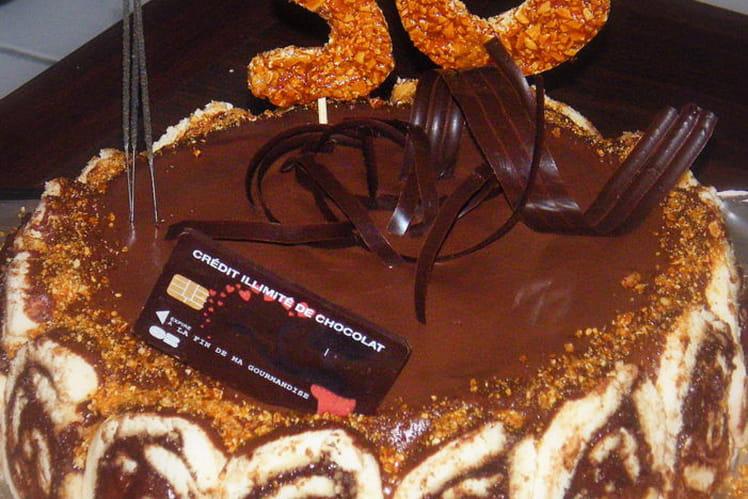 Gâteau fou d'anniversaire au chocolat