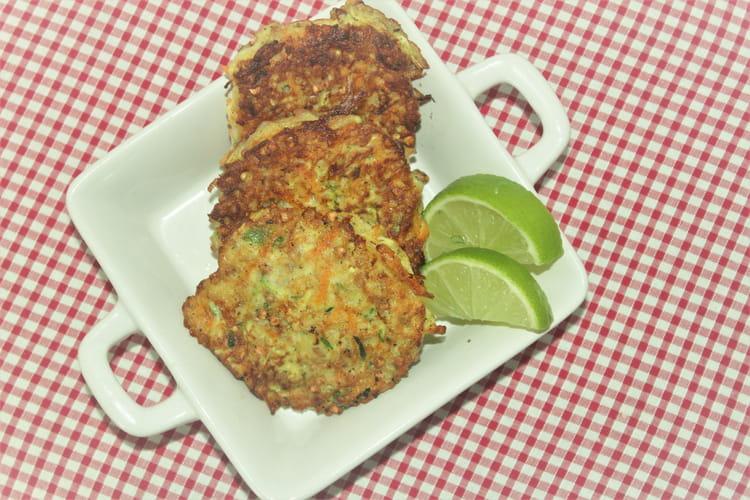 Galettes de légumes et sarrasin grillé