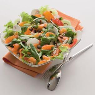 salade de mâche au saumon fumé
