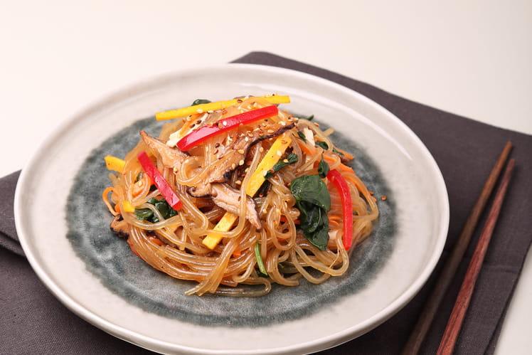 Japchae - Vermicelles sautés à la viande et aux légumes