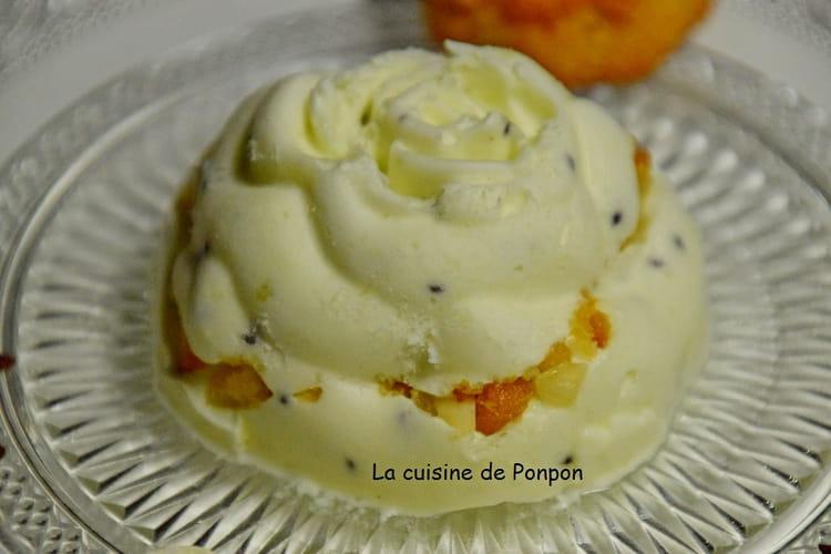 Dessert semifreddo de kiwi et amaretti