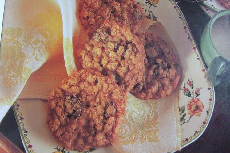 Cookies aux flocons d'avoine, raisins secs et zeste d'orange