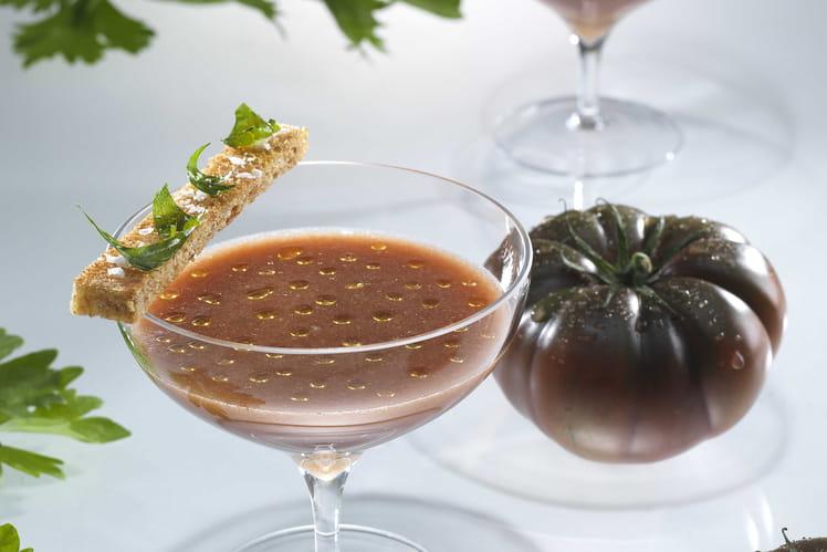 Verrines de soupe de tomate oubliée