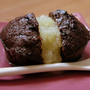 fondant chocolat noix de coco et ananas