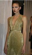 la robe façon marylin couleur or