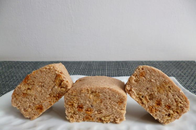 Mini-cakes crus aux biscuits coco-chocolat-son d'avoine et au psyllium
