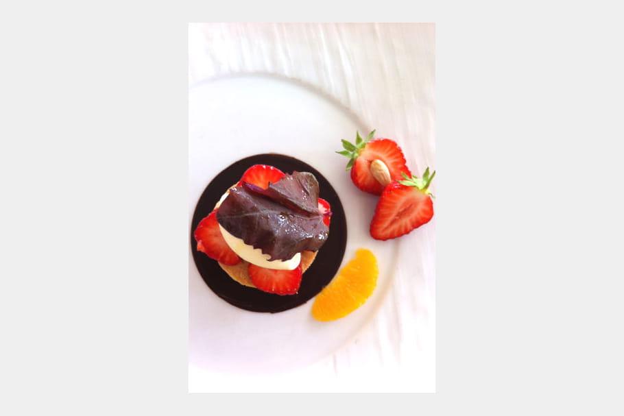 Un dessert haut en couleurs