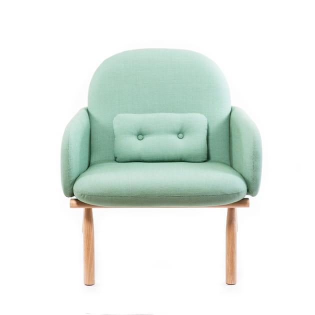 Le fauteuil vert givré