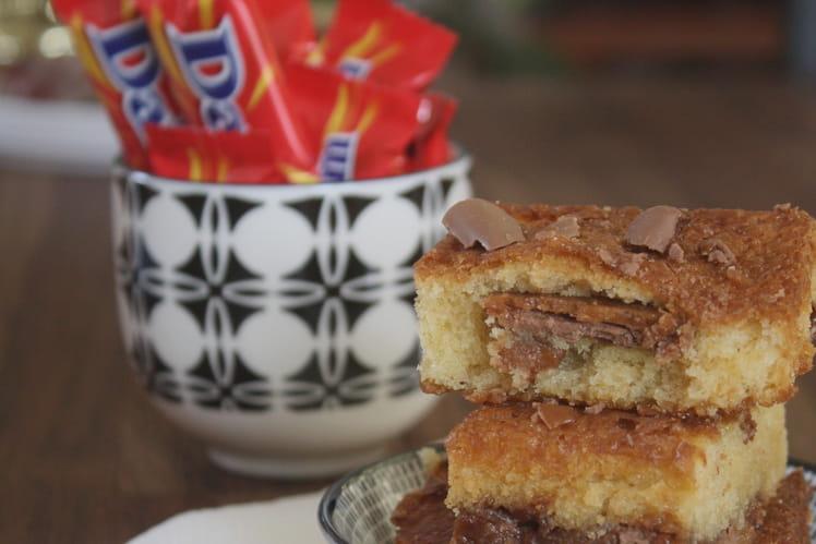 Brownie chocolat blanc et Daims