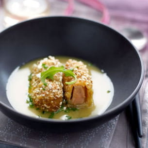 croquettes de foie gras au maïs
