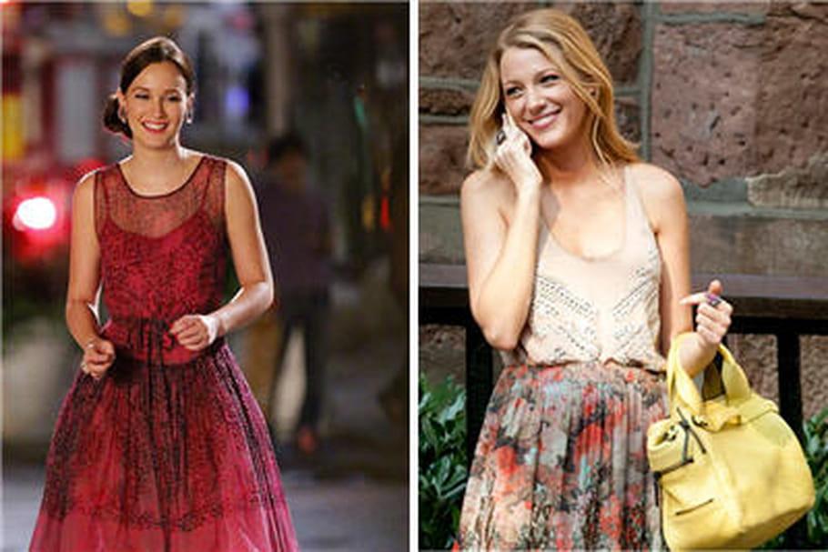 Les looks de Serena et Blair sur le tournage de Gossip Girl