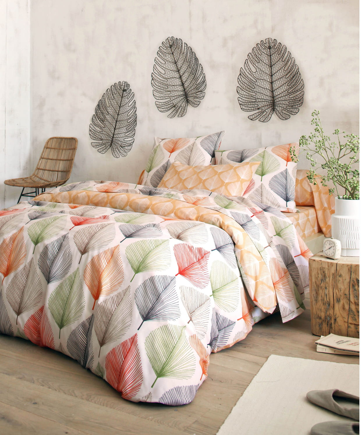 linge de lit multicolores par becquet. Black Bedroom Furniture Sets. Home Design Ideas