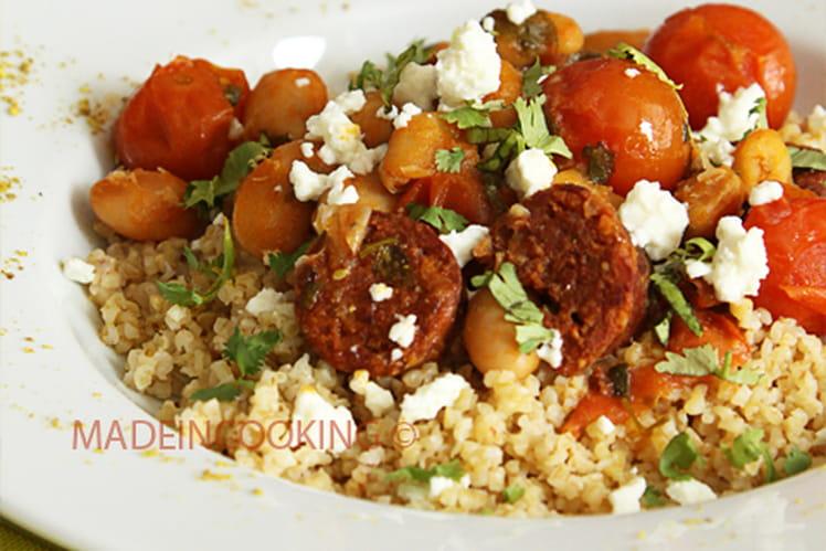 Ragoût de chorizo et haricots blancs
