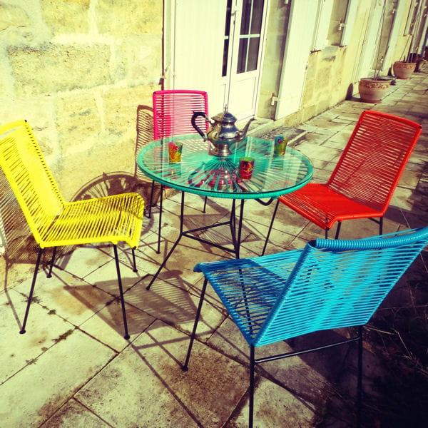 Le mobilier de jardin annonce la couleur
