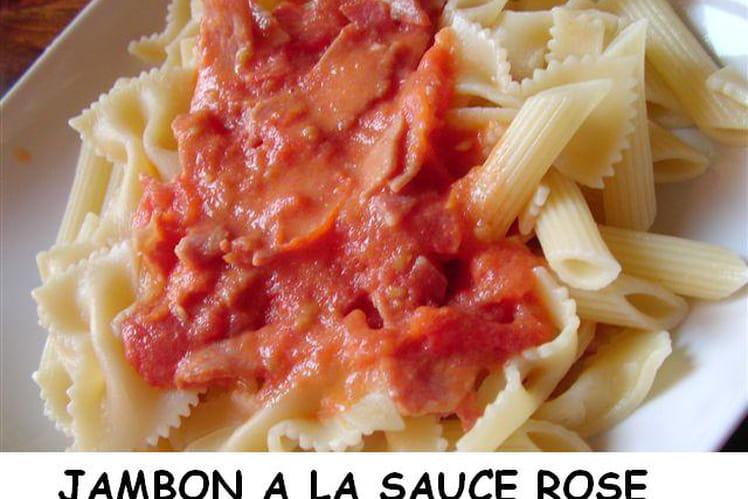 Jambon à la sauce rose