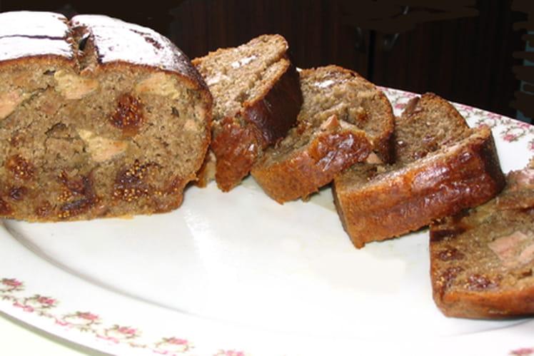 Cake au foie gras et figues de montagne