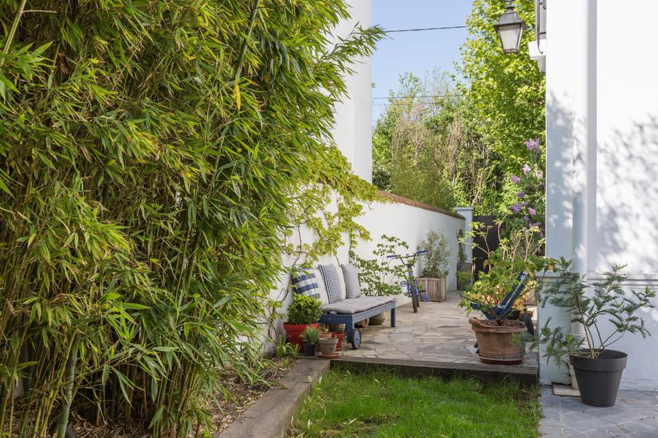 Un salon de jardin improvisé