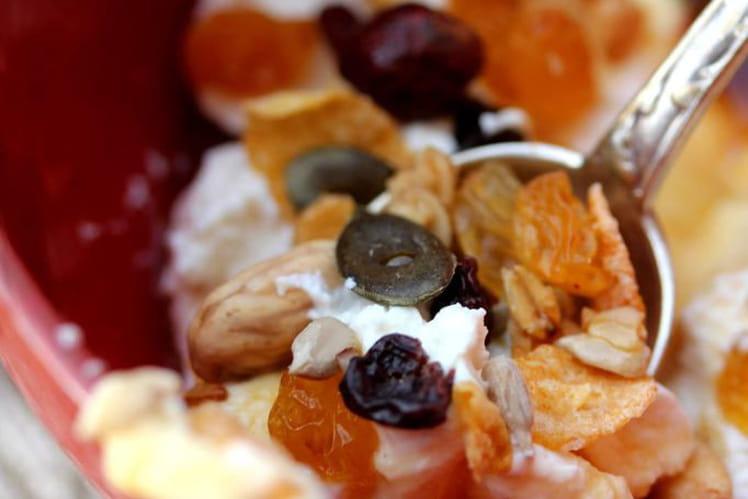 Ricotta aux fruits secs et sève de kitul