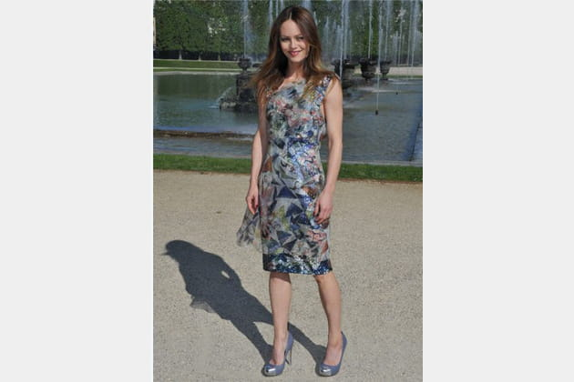 Vanessa Paradis, en mode multicolore