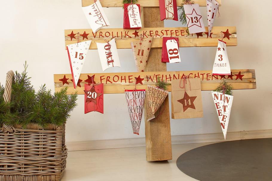 DIY: un sapin de Noël en bois brut