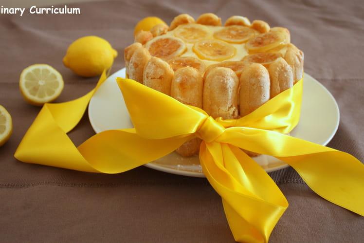 Charlotte au citron lemon curd