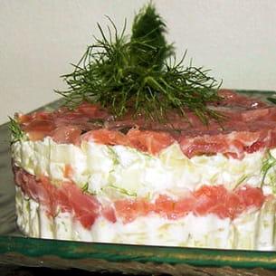 tartare de saumon et fenouil