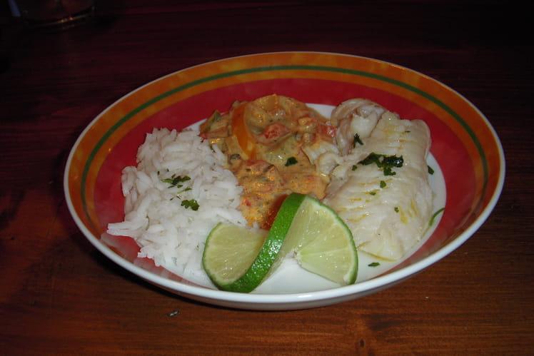 Cabillaud sauce au curry