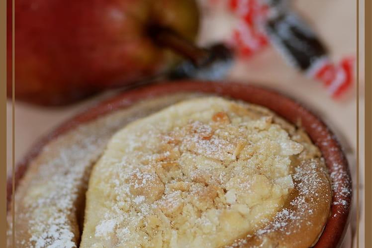 Clafoutis crumble aux poires et réglisse