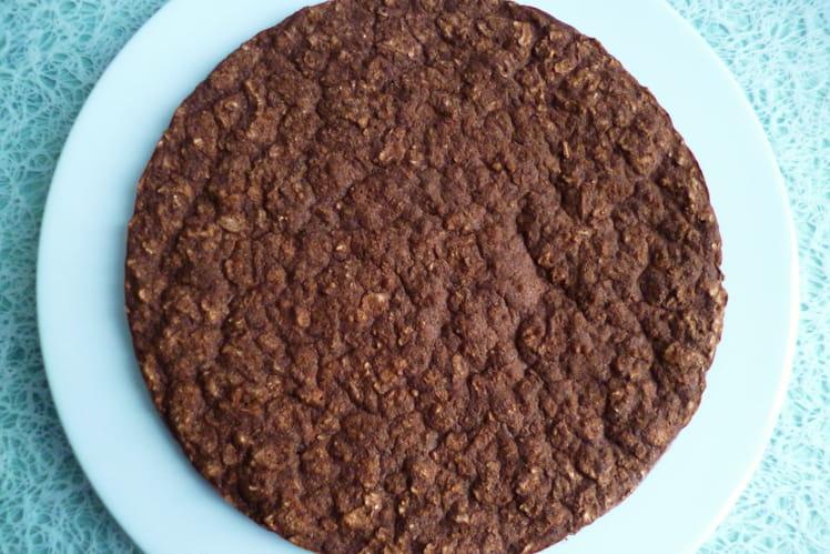 Galette chocolat hyperprotéinée XXL riz teff amarante lin psyllium