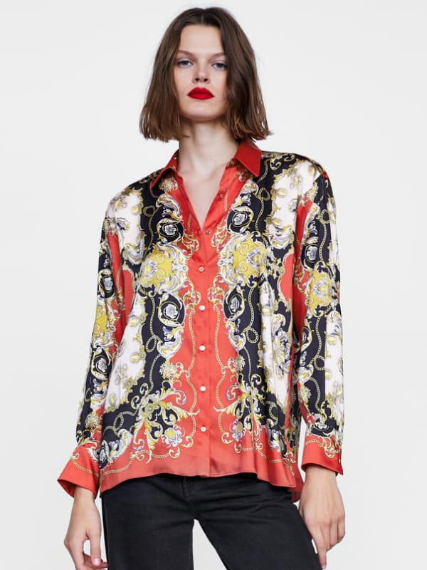 belle couleur incroyable sélection qualité-supérieure Chemise imprimée de Zara