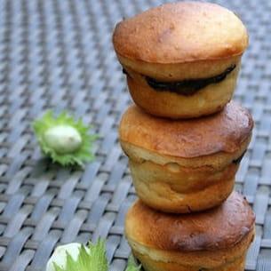muffins au gingembre, coeur fondant de nutella