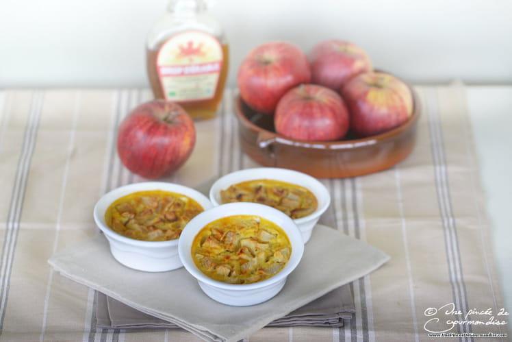 Clafoutis à la pomme et au sirop d'érable