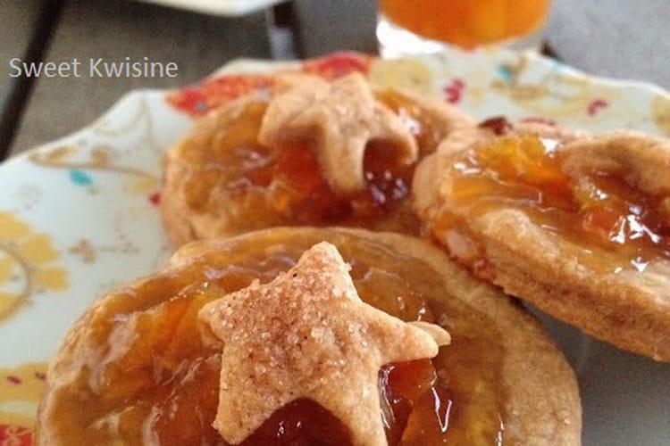Sablés à la confiture d'orange et sucre muscovado