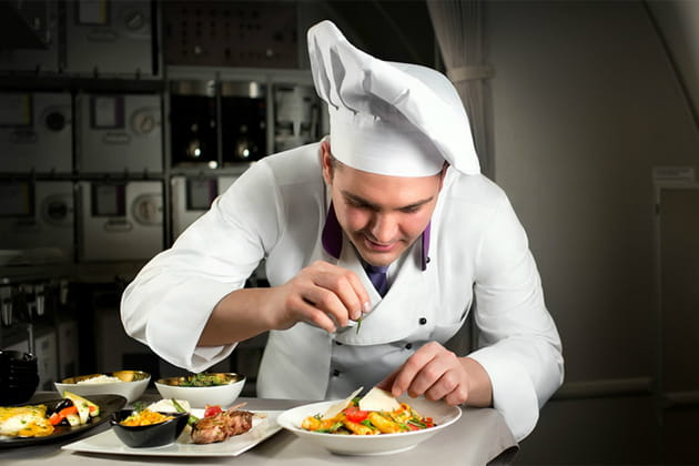 Business Class: des repas élaborés par des chefs