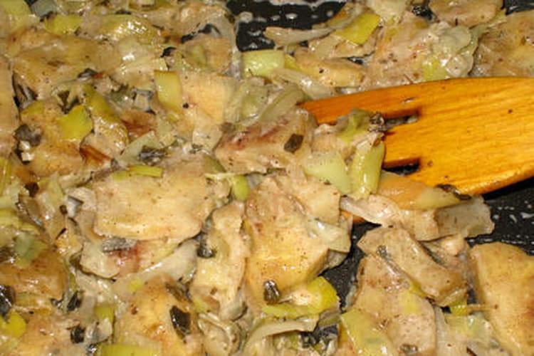 Fondue de poireaux au thon