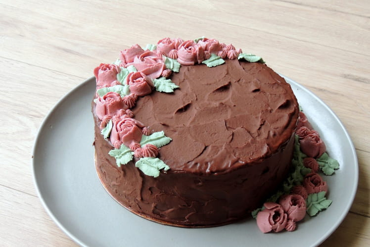 Layer cake mûre & cerise