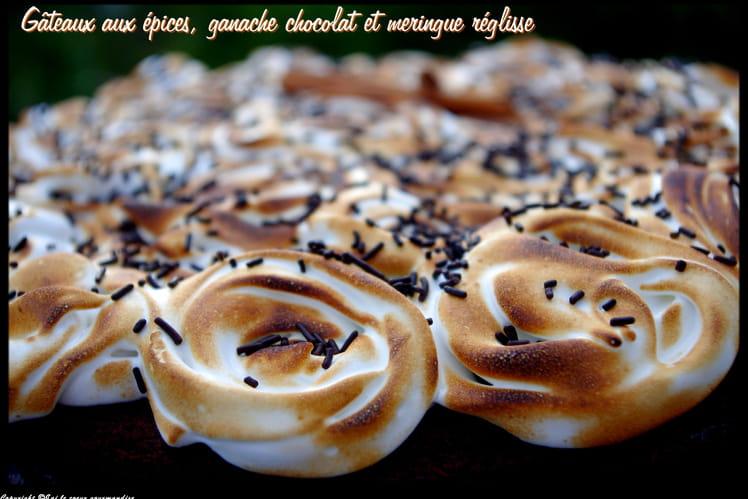 Gâteau aux épices et meringue à la réglisse