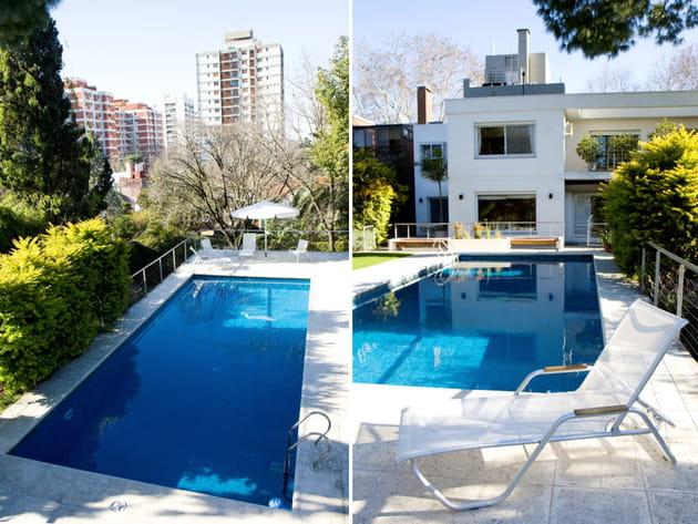 La piscine au cœur du jardin