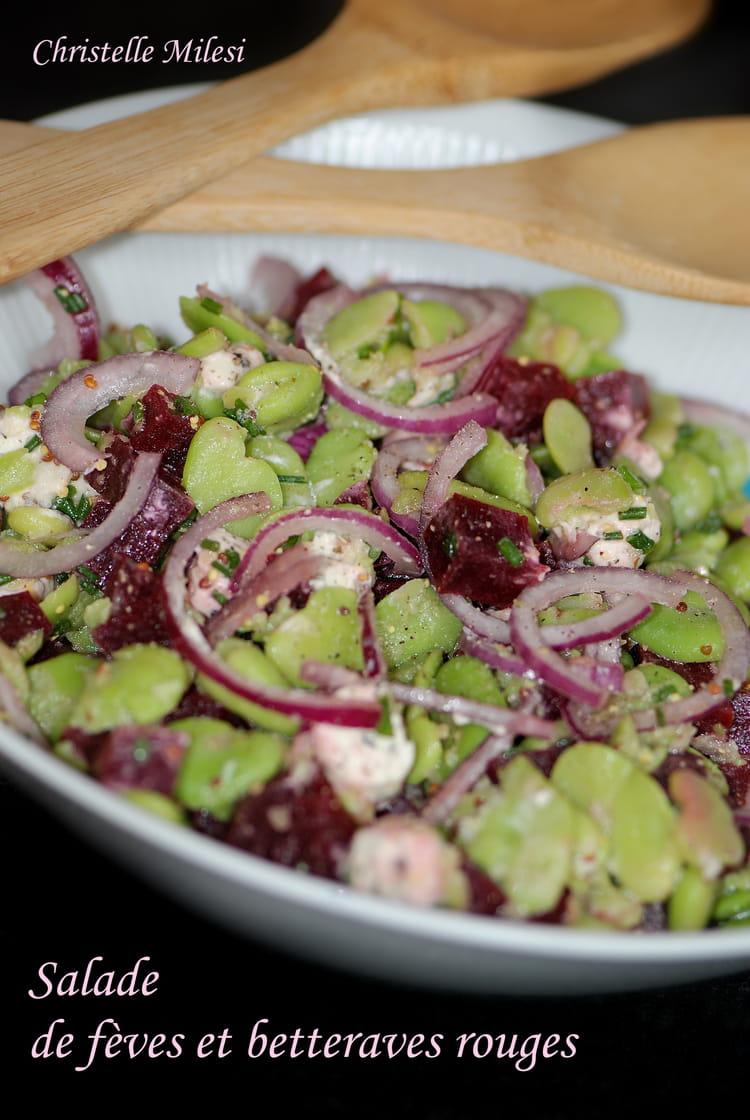 Recette de salade de f ves et betteraves rouges la - Cuisiner les betteraves rouges ...