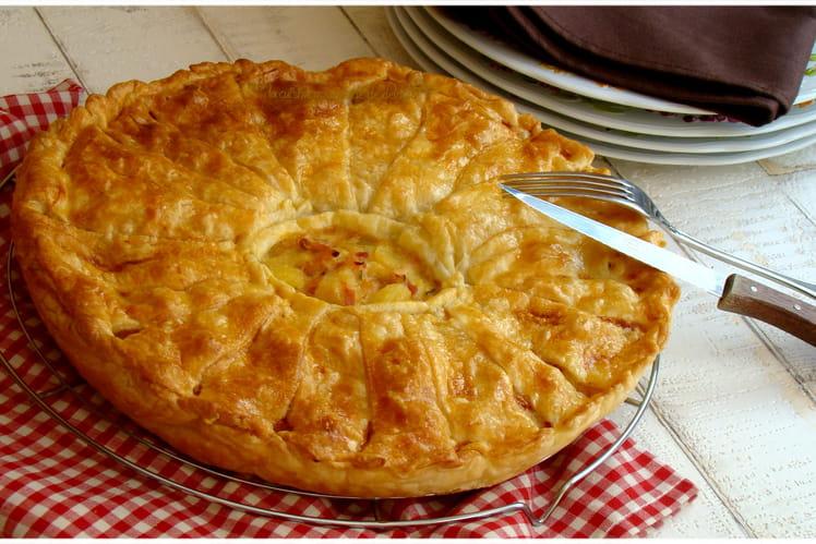 Tourte au poulet, fromage et pommes de terre