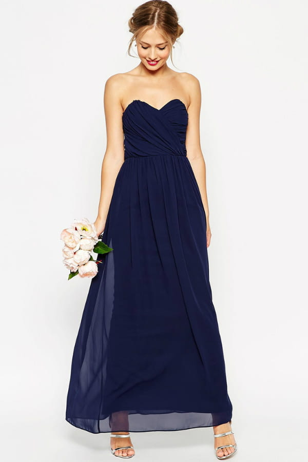 maxi robe bleu nuit de asos wedding