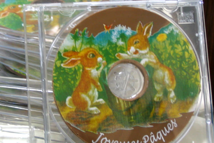 CD de Pâques en chocolat