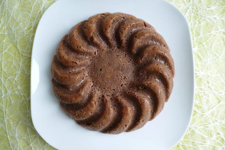 Gâteau diététique végan moelleux cacao amande coco au muesli et psyllium