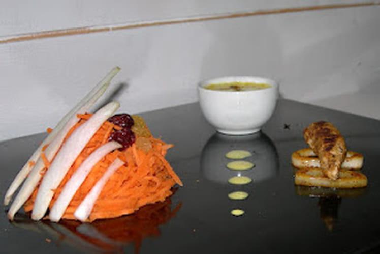 Endives et carottes en salade marocaine