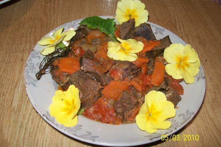 Coeur de boeuf aux carottes