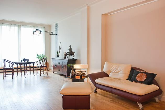 Petit loft zen : séjour