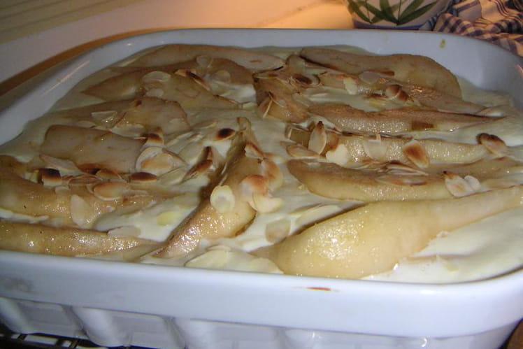 Gratin de poires au fromage blanc